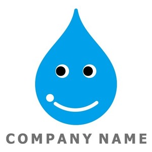 水滴イメージ ロゴデザイン