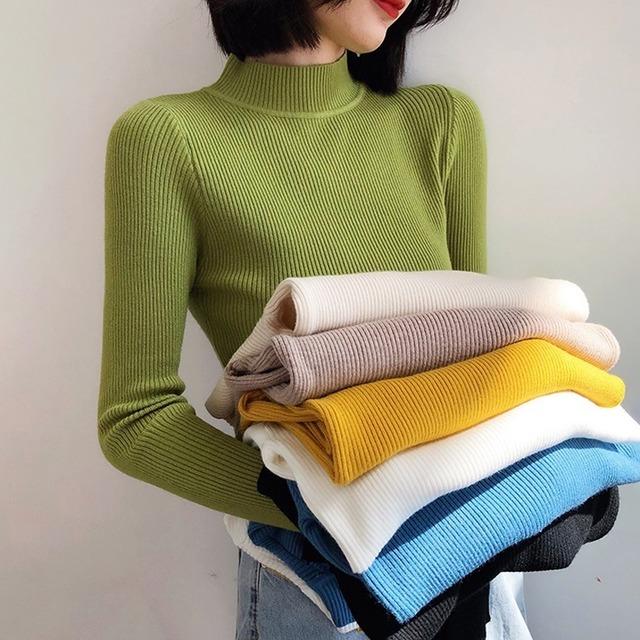 プチプラハーフネックセーター 8色 【201213】