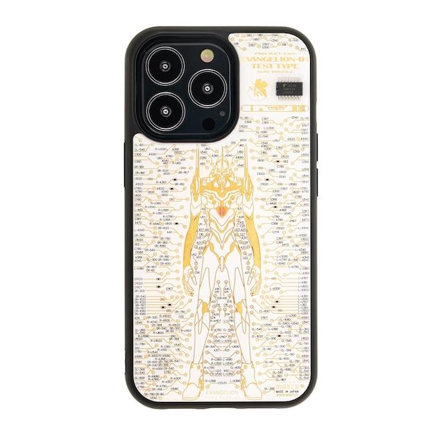 FLASH EVA01 基板アート iPhone 13Proケース 白【東京回路線図A5クリアファイルをプレゼント】