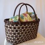 かごバッグ 鱗くずし華編みのバッグ