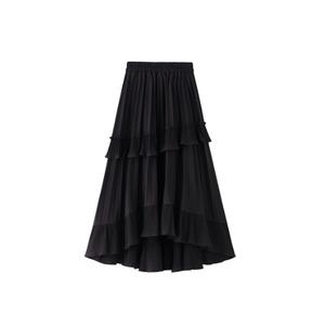フリルプリーツスカート(Black)