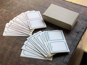 【活版印刷】 LETTERPRESS sticker BOX  Red&Blue(2色セット計72枚入り)