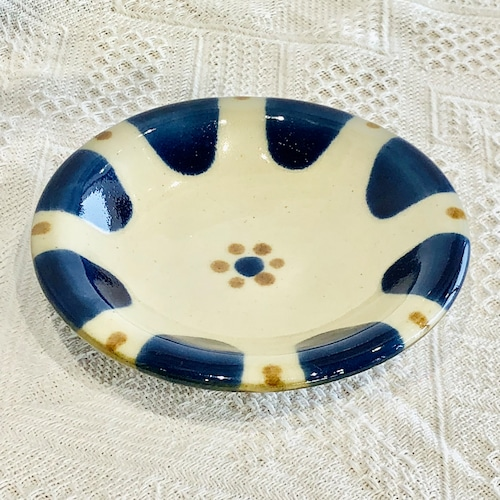 『ノモ陶器製作所』 5寸皿 コバルト チチチャン