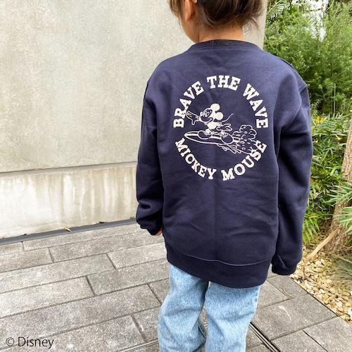 ★Kids★ BRAVE THE WAVE <MICKEY MOUSE> sweat - Navy
