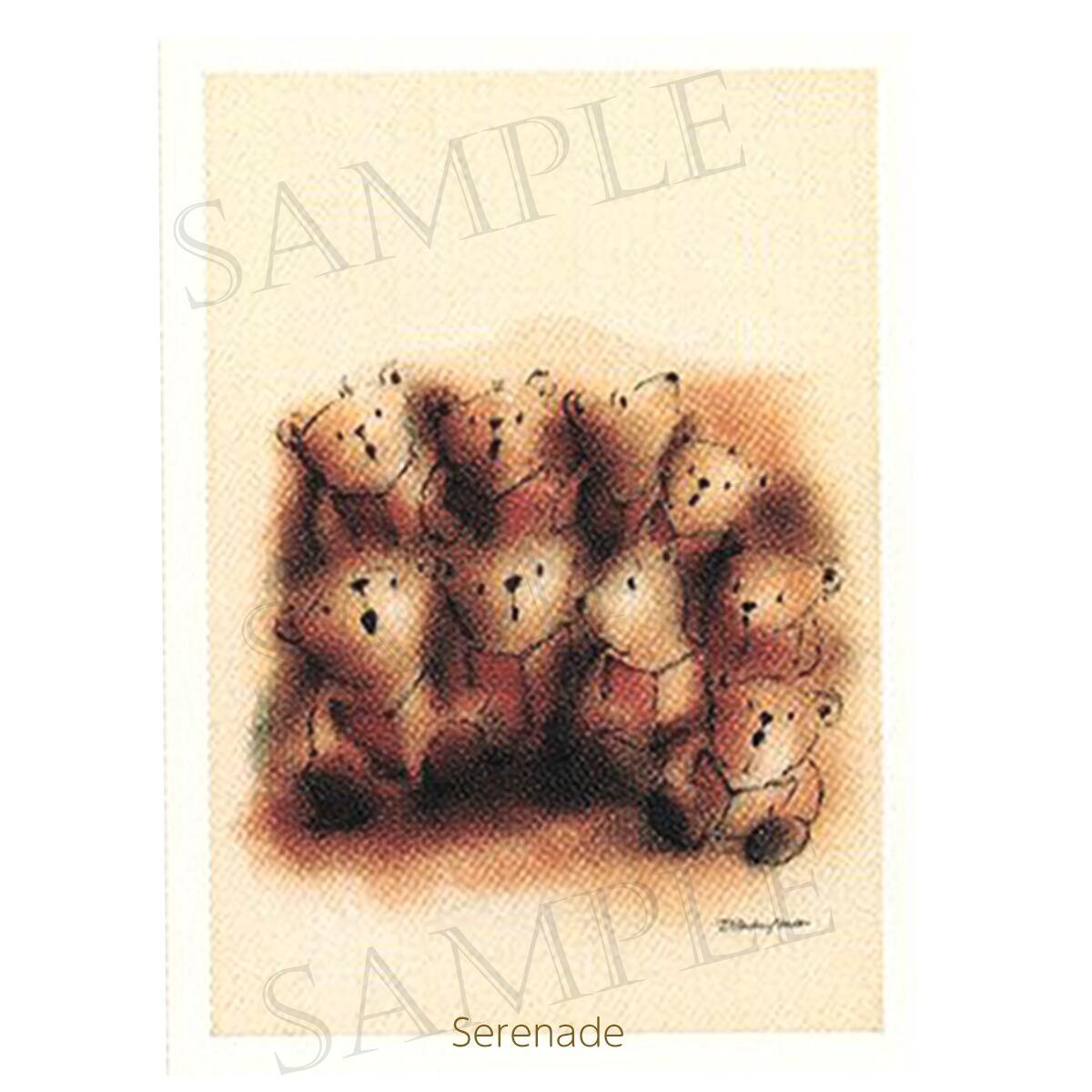 合唱 音楽のテディベア ドイツ製グリーティングカード