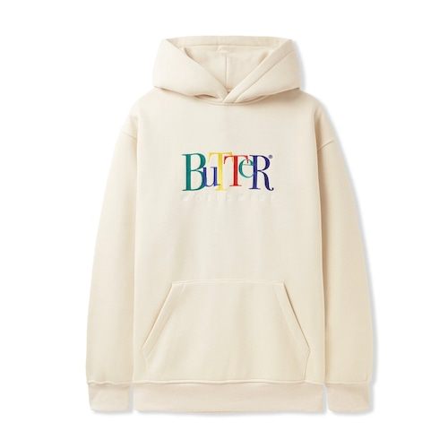BUTTER GOODS 【Jumble Embroidered Pullover Hood, Oatmeal】