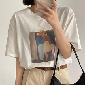 American art T-shirt(アメリカンアートTシャツ)b-275