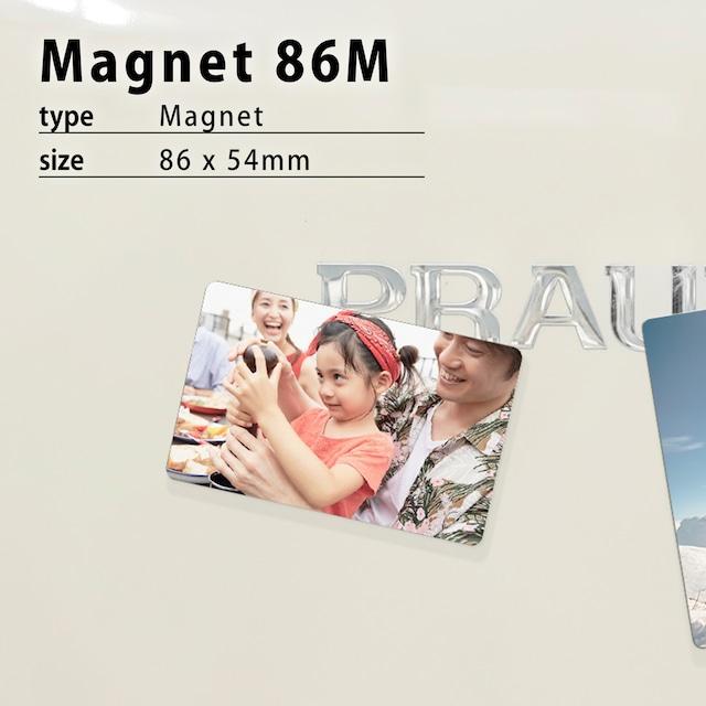 オリジナルマグネット作成・名刺サイズ86M(86×54mm)/マグネット印刷/スマホの写真でマグネットが作れる!/アルミプレートで丈夫