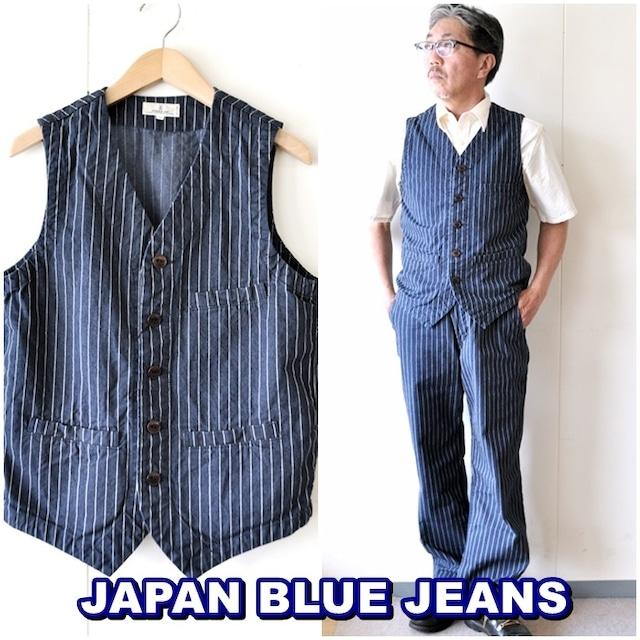 JAPANBLUEJEANS  ジャパンブルージーンズ デニムベスト アーバンベスト ストライプベスト ワークベスト J422431