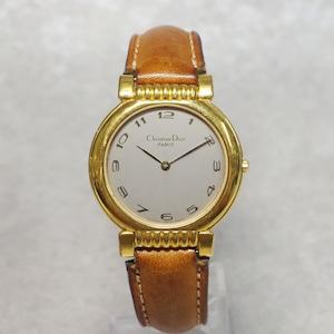 Christian Dior ディオール GP クォーツ 革ベルト 腕時計 メンズ