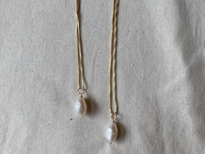 baroque pearl long necklace (S)