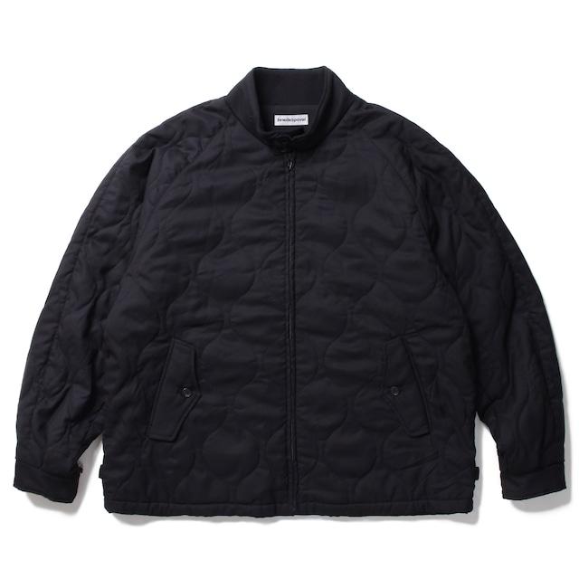 POVAL Quilted Harrington Jacket Black