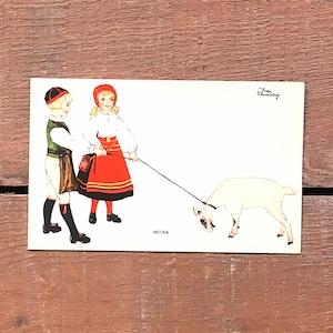 民族衣装カード「RÄTTVIK(NATIONAL BILDER - 07)」《201219-02》