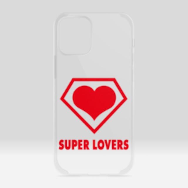 SUPER LOVERS logo/スーパーラヴァーズアイホンケース 12 mini