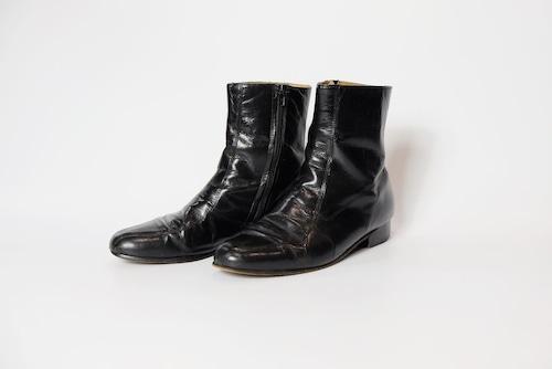 side zip heel boots①