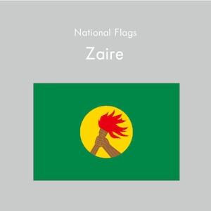 国旗ステッカー ザイール