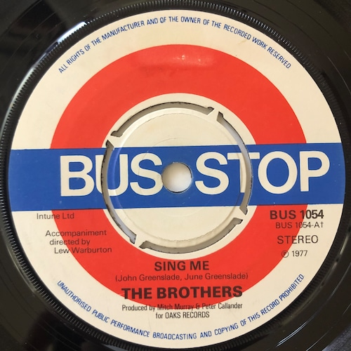 The Brothers - Sing Me【7-20646】