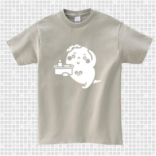 ゆっポくんTシャツ シルバーグレー