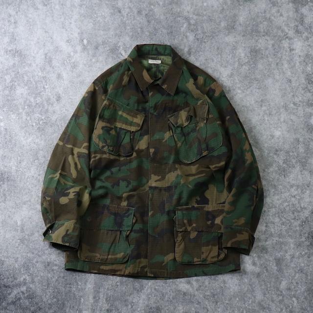 70's USMC Fatigue jacket 5th 4th 70年代 マリンコ ファティーグジャケット リップストップ ブラウンリーフ combat tropical ナム戦 ミリタリー ヴィンテージ Vintage 古着 A521