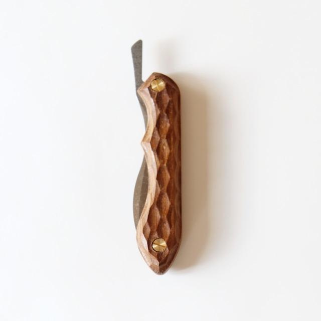 FEDECA 折畳式料理ナイフ (名栗ビルマチーク)