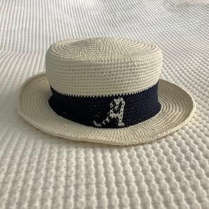 イニシャル ハット(カンカン帽)