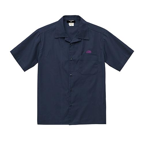T/Cツイルオープンカラー半袖シャツ / ネイビー   SINE METU