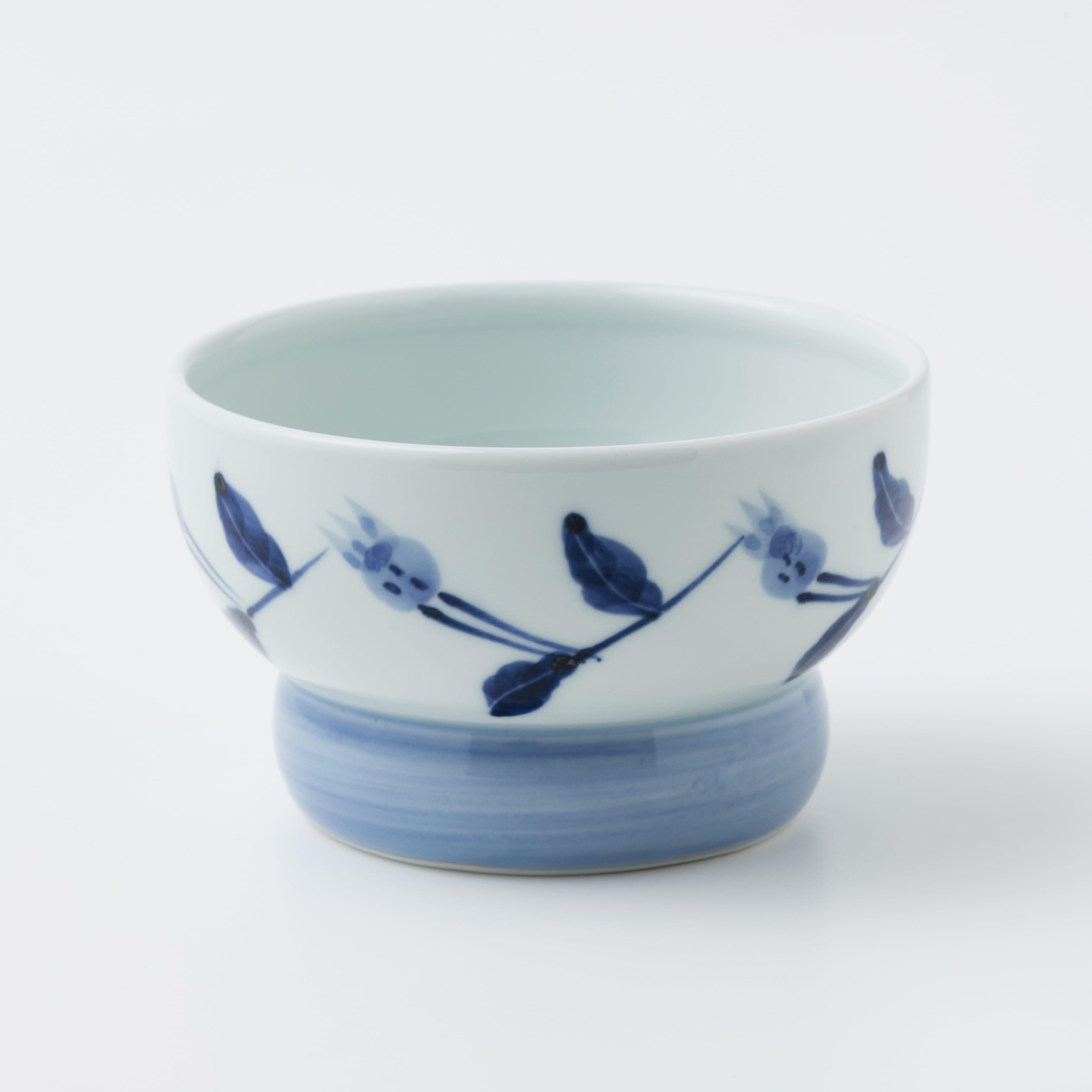 有田焼【まどか】 ロータイプ(水用) めぐり華 製造:江口製陶所