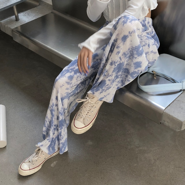 tiedye pattern Street long pants