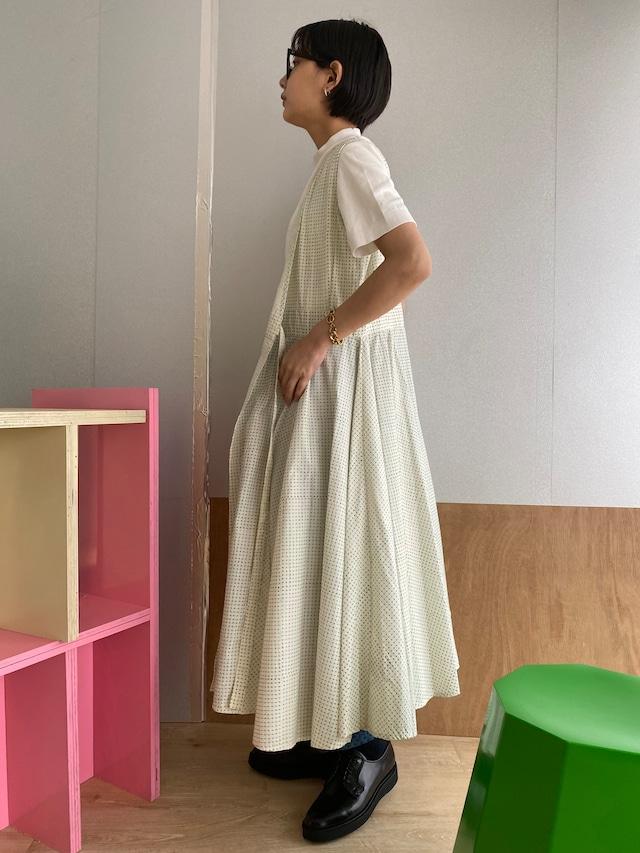 "Wrapped  long dress ""block print geometric"" organic cotton"
