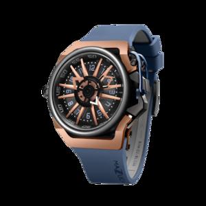 【MAZZUCATO マッツカート】RIM-02(ブルー×ローズゴールド)/国内正規品 腕時計