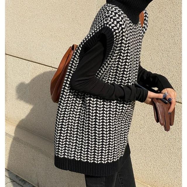 Design knit vest KRE1027