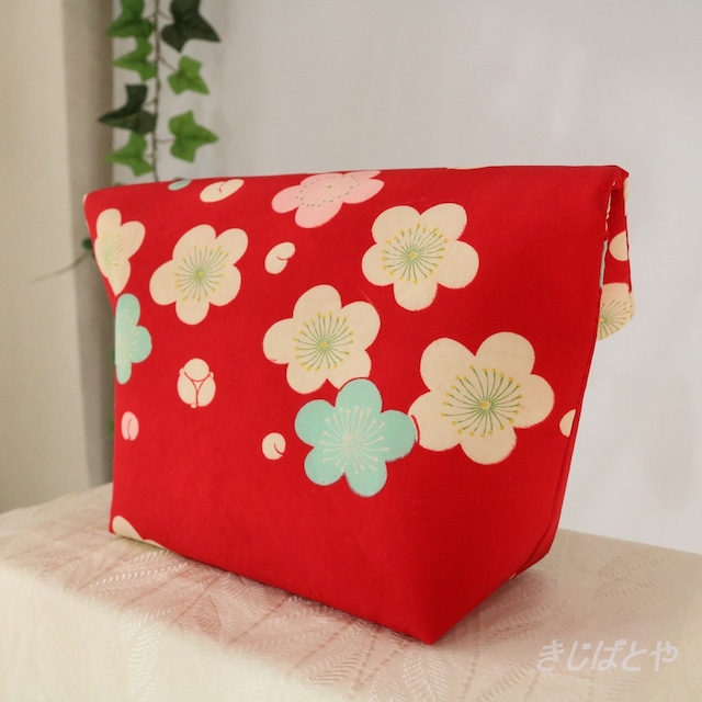 和裁士さんが考えたバッグインバッグ 赤に絞りの市松