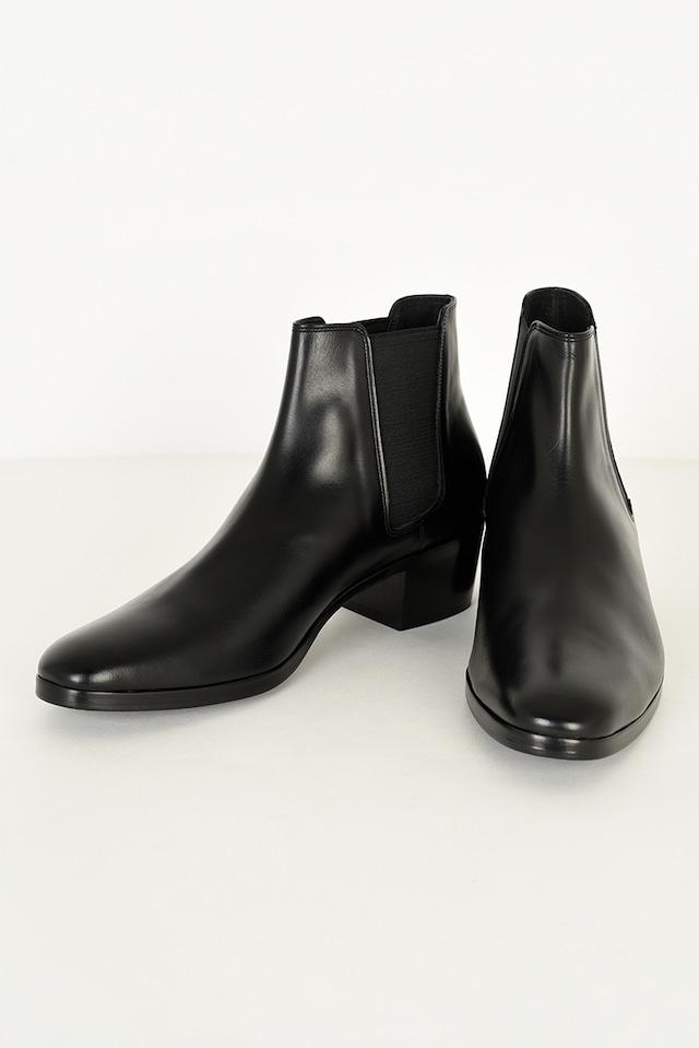 在庫あり LAD MUSICIAN【ラッドミュージシャン】SIDE GORE HEEL BOOTS (2221-913  BLACK  )
