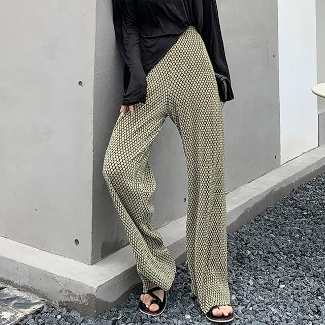 Retro flare pants 2color KRE789