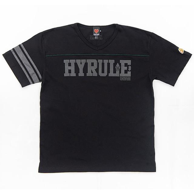 ゼルダの伝説  KOGフットボールTシャツ(ハイラル) / THE KING OF GAMES