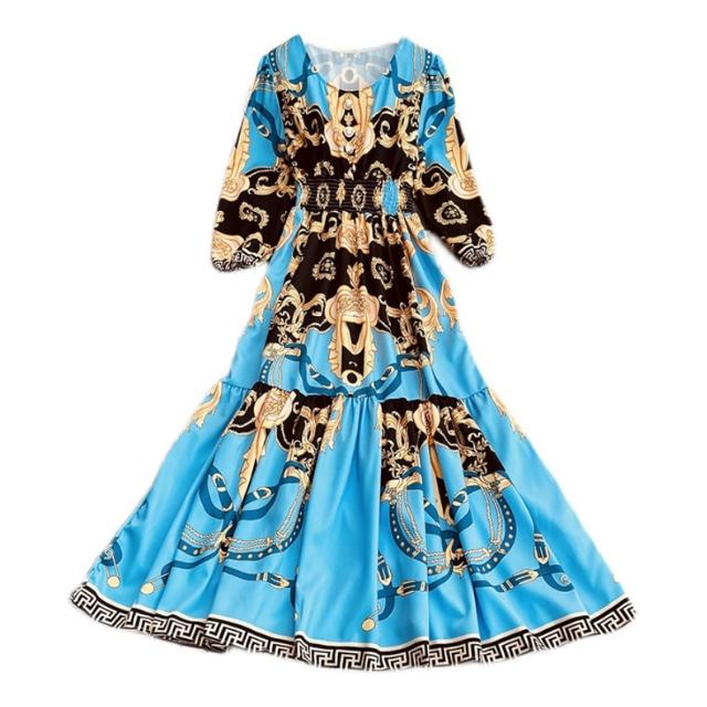 パレス スリミング ロング ドレス【R0996】