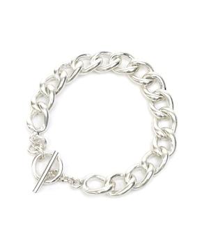 Y1907KHB012【YArKA/ヤーカ】silver925 flat big chain bracelet [cyhe]/太喜平チェーンブレスレット シルバー925