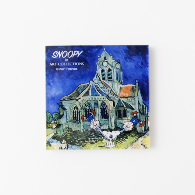 スヌーピー アクリルマグネット オヴェールの教会