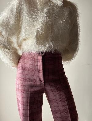 1970s Vintage Check Pants