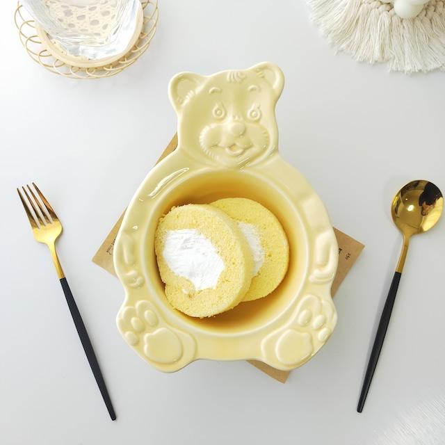 【送料無料】即納 デザートボウル Bear-yellow 韓国インテリア 韓国雑貨