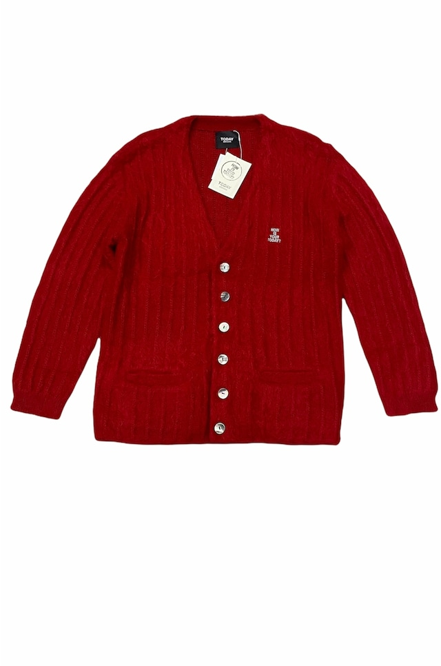TODAY edition / Fuzz Mohair Cardigan(RED)