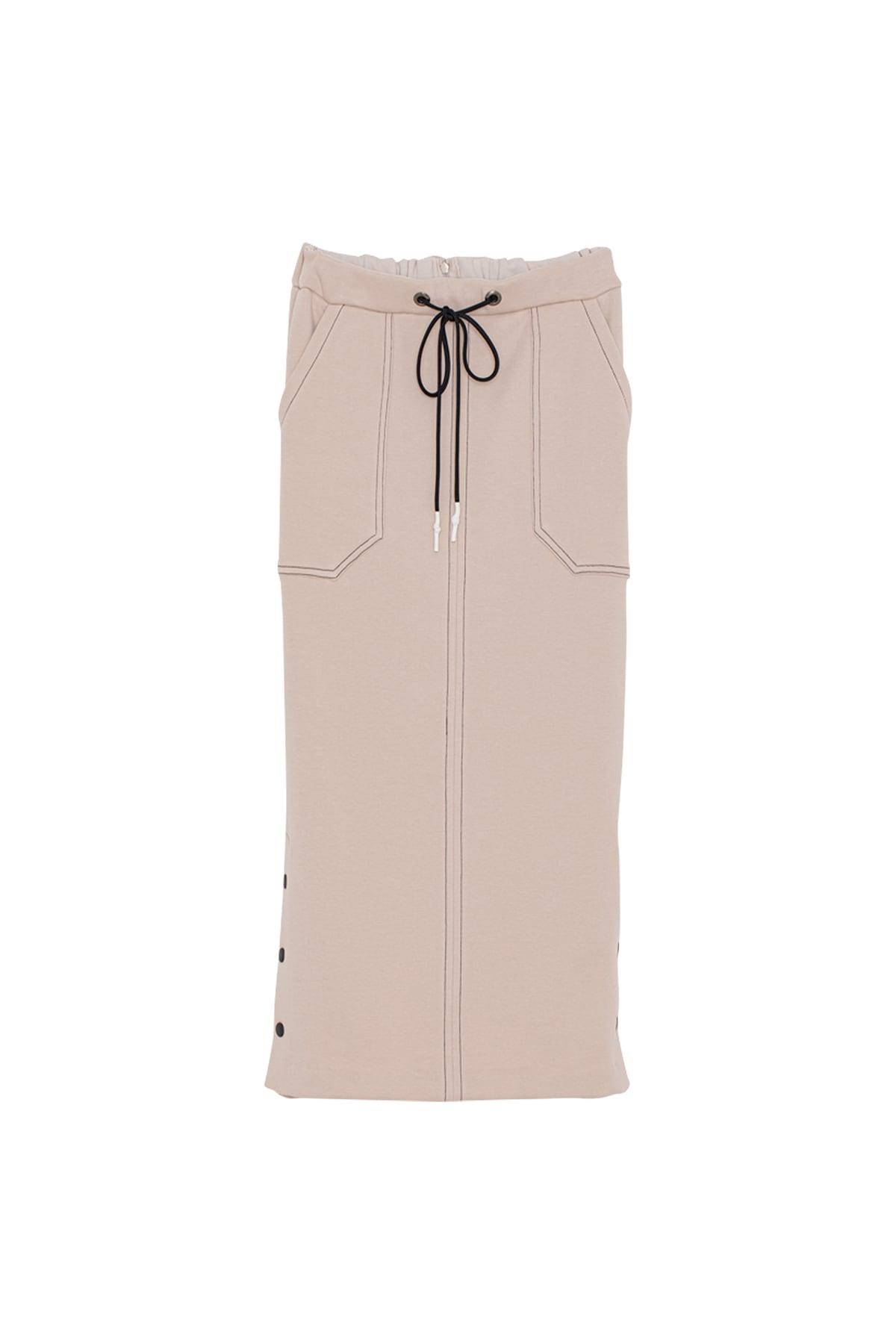 ソフトサーモジャージースカート< light beige >