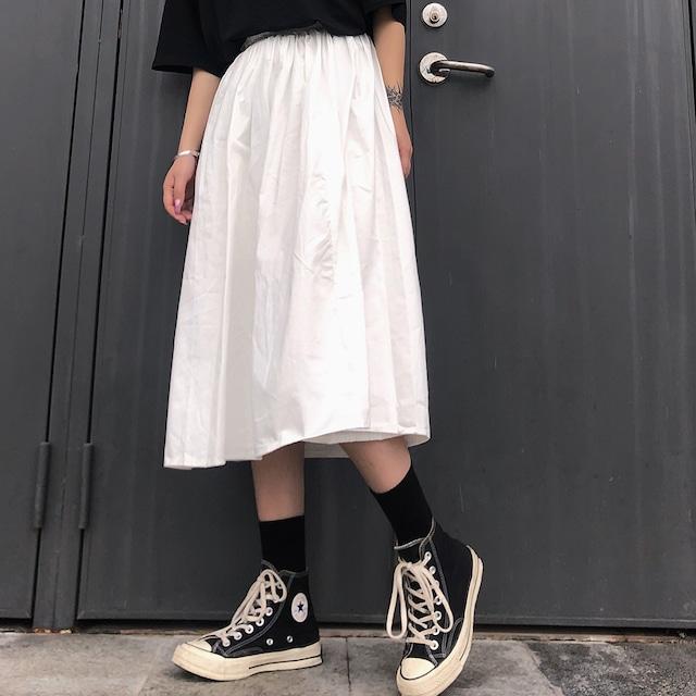 【ボトムス】カジュアル無地Aラインスカート43149661