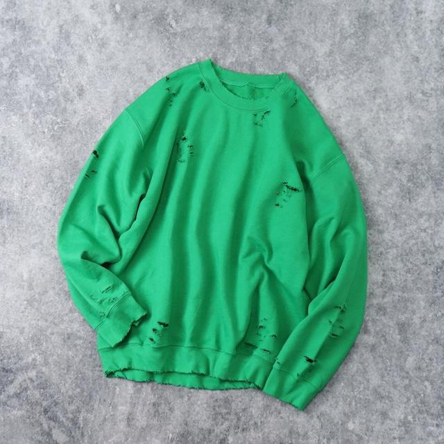 """ BORO ""   Sweat Shirt    GREEN"