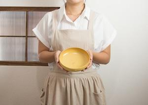 黄釉 スープボウル/石塚操
