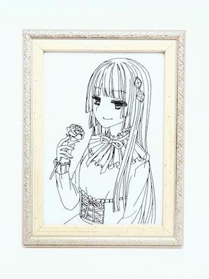 キャラ縫い額装刺繍 王女シャッフル「安らぎのひととき」