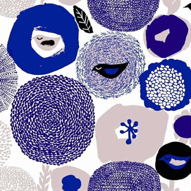 北欧 kauniste(カウニステ) ファブリック Sunnuntai ブルー