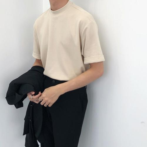 ハイネックシンプルTシャツ BL8540