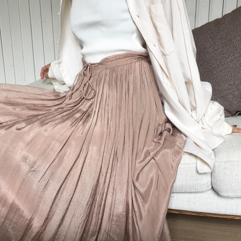"USED "" glossy flare skirt / グロッシーフレアスカート """