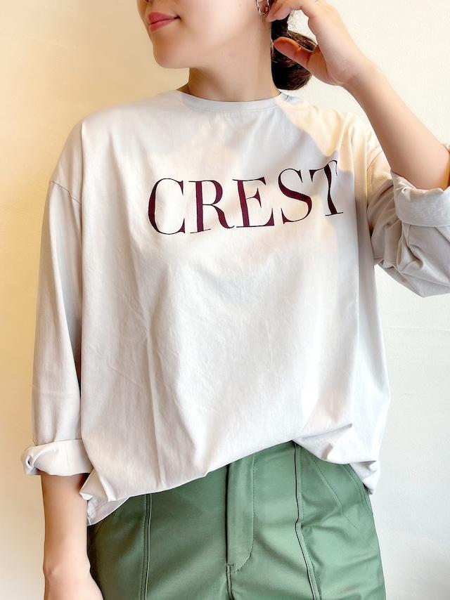 """【再入荷】MICA&DEAL / """"CREST""""ロゴロングスリーブTシャツ"""